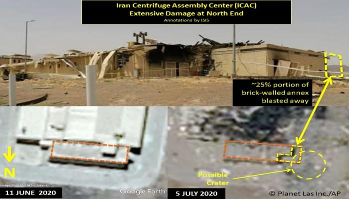 بالصور.. أضرار كبيرة طالت منشأة نطنز الإيرانية إثر الهجوم الغامض