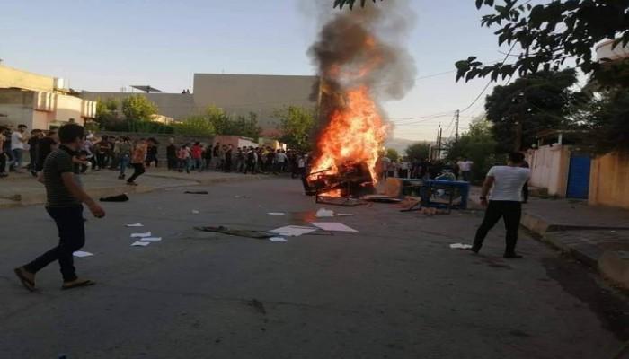 تظاهرات تطالب بحل حكومة كردستان بسبب سوء الأوضاع المعيشية