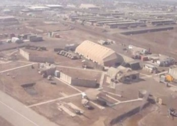 قصف الجانب الأمريكي من معسكر التاجي بالعراق