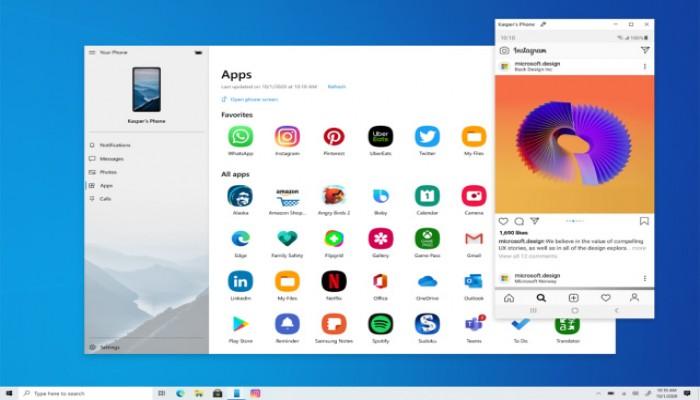 خاصية جديدة.. ويندوز 10 يسمح بتشغيل التطبيقات من هواتف سامسونج