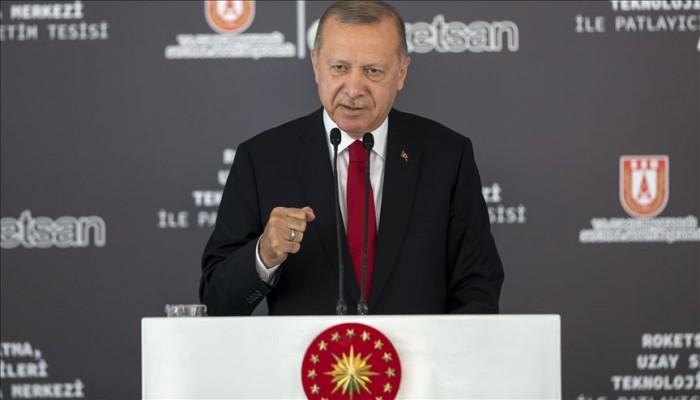 أردوغان يعلن بدء اختبار أول محرك صاروخي فضائي تركي
