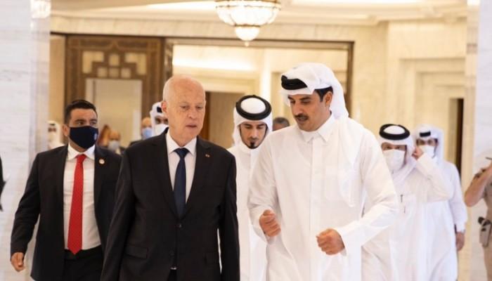 أمير قطر بعد لقاء سعيد: نجدد دعمنا استقرار وتنمية تونس