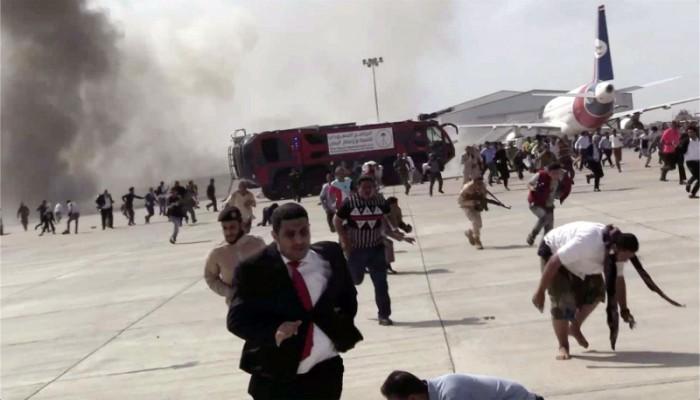 من تسبب بانفجار مطار عدن؟