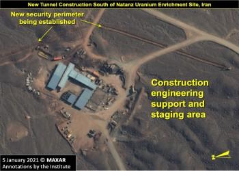 إيران.. صور أقمار صناعية تكشف أنفاقا جديدة في نطنز النووية