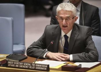 مسؤول المساعدات بالأمم المتحدة يطالب واشنطن بإلغاء تصنيف الحوثيين إرهابية