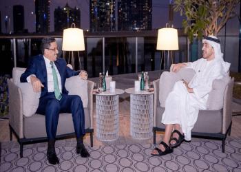 عبدالله بن زايد يستقبل وزير الخارجية اليمني في أبوظبي