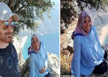 الزوج متهم بالقتل.. فيديو يظهر اللحظات الأخيرة لسقوط تركية من أعلى جبل