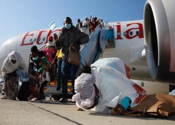 إعلام عبري: 300 مهاجر من يهود إثيوبيا وصلوا إلى إسرائيل