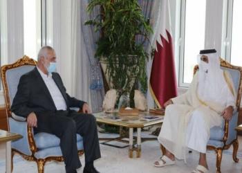 تميم يلتقي هنية في الدوحة لبحث إعادة إعمار غزة
