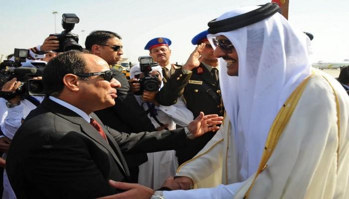 السيسي يدعو الشيخ تميم لزيارة مصر في أقرب فرصة
