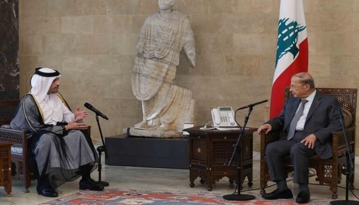 الرئيس اللبناني يثني على دعم قطر لبلاده.. وبن عبدالرحمن: مستعدون للمزيد