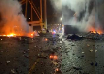 سلطات ميناء جبل علي بدبي توضح ملابسات حريق الحاوية وتفتح تحقيقا واسعا