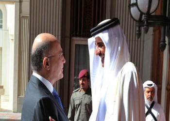 أمير قطر يتلقى اتصالا من الرئيس العراقي