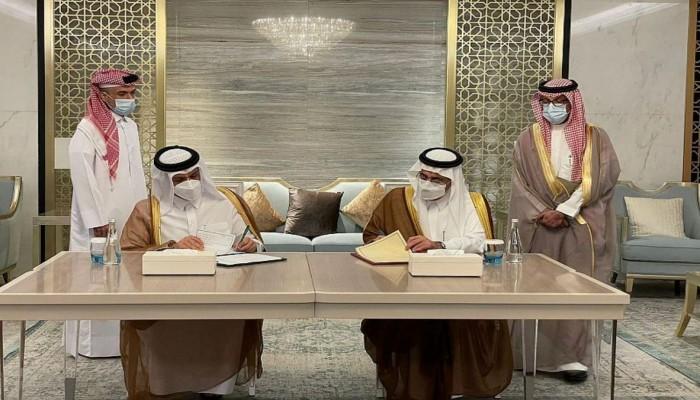 رسميا.. توقيع برتوكول معدل لمحضر إنشاء مجلس تنسيق سعودي قطري