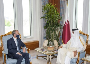 أمير قطر ووزير خارجية بريطانيا يبحثان تطورات أفغانستان