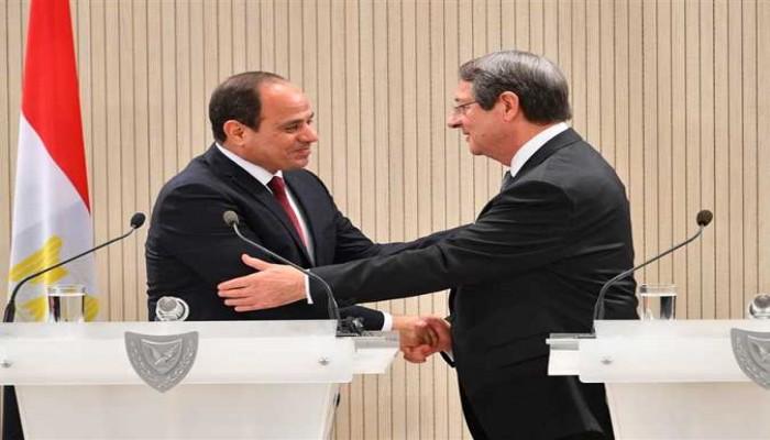 السيسي: بحثت مع الرئيس القبرصي تهدئة الأوضاع في ليبيا وفلسطين وأزمة سد النهضة